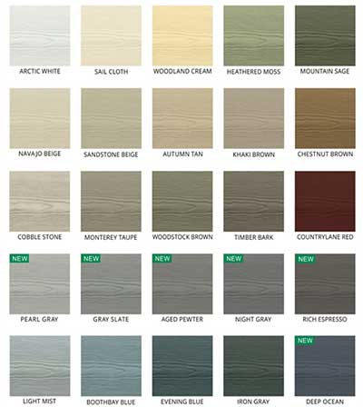 James Hardie Siding Color Samples